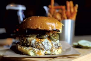 Jalapeño Burger at Cornerstone, Northfield, VT