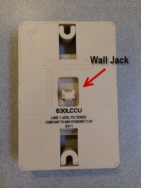 dsl filter installation guide green mountain accessif you only have one phone jack for your wall mounted phone, there is a dsl port on the left side of the filter that will allow you to use the same