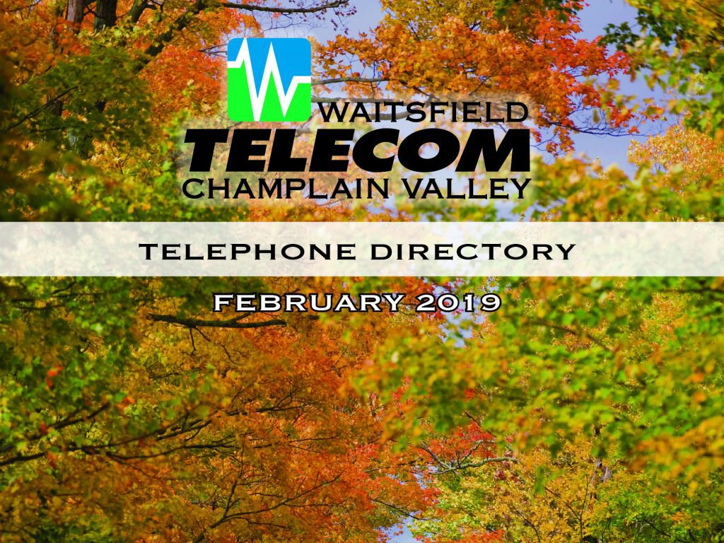 Champlain Valley telephone directory